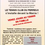 Affiche Fête du tennis